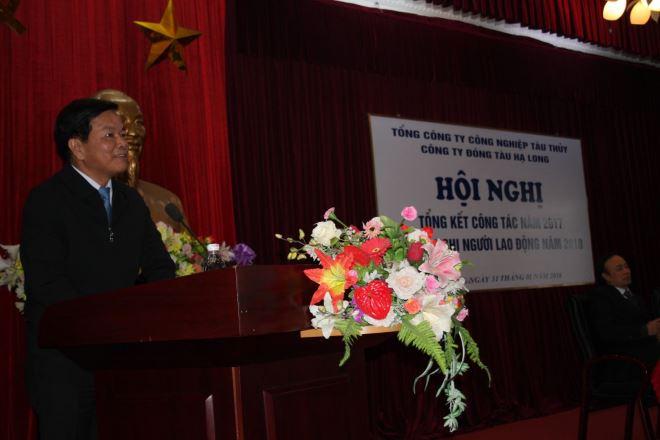 Đồng chí Cao Thành Đồng – Quyền Tổng Giám đốc Tổng Công ty phát biểu.