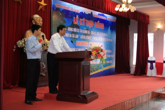 Đ/c Nguyễn Tuấn Anh – Tổng giám đốc phát biểu trước lễ ký.