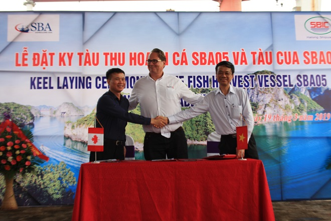 Representatives of the parties signed the minutes of ordering the fish harvesting vessel - SBA05
